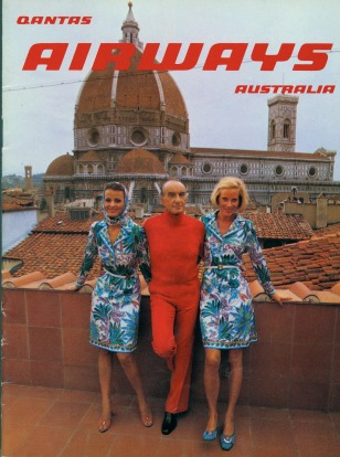 1970s: Qantas Airways cover featuring the Pucci uniform, December 1974.