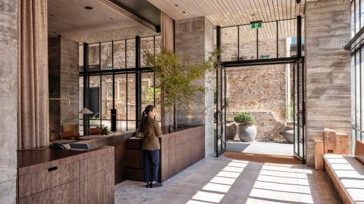 Inside it's a gorgeously tactile haven of exposed brick, warm wood and stonework.
