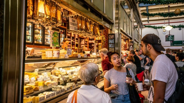 Melbourne's Victoria Market is one spot where you can see and sample the vibrant mix of Australian cuisine.