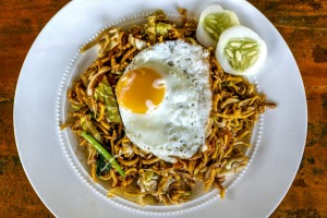 Mie goreng is a popular Asian dish.