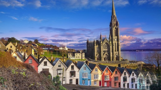 Cobh is a harbour town in County Cork, Ireland.