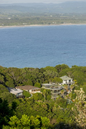 Large residential buildings set on the tropical North Coast, Byron Bay.