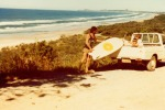 My Uncle Ray surfing at Seven Mile Beach - where Hemsworth live… Circa 1979.