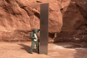 The monolith is three metres tall.