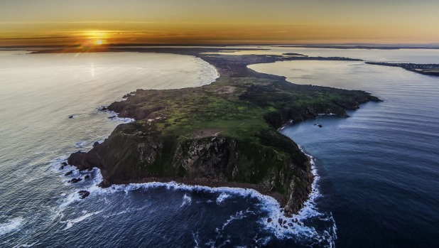 Sunset over Phillip Island.