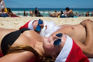 Christmas Day ... a perfect day to go to the beach.