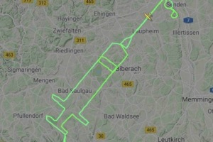 German pilot Samy Kramer has traced a giant syringe in the sky, flying 200 kilometres to remind people about the start ...