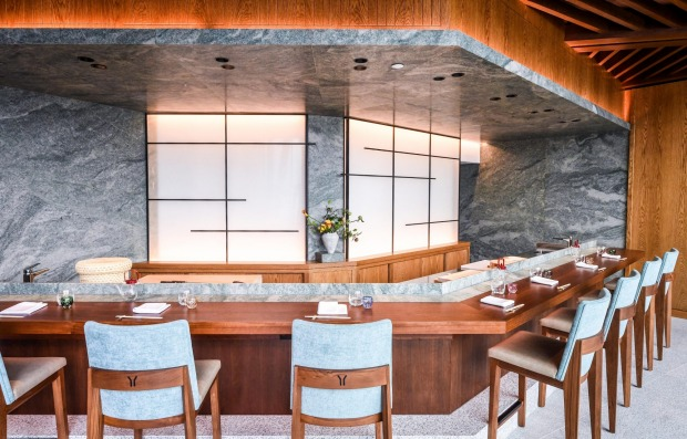 Yoshii's Omakase offers an intimate dining experience within a twelve-seat fine dining room.