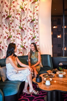 Teahouse, a lounge bar with a Chinese teahouse feel.