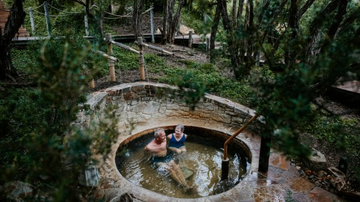 There are over 50 hot springs experiences in the pools that are replenished with a fresh body of water every four hours.