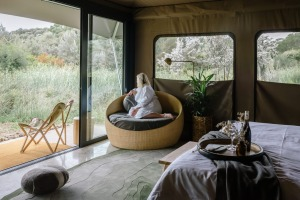 Glamping tents at Peninsula Hot Springs Mornington Peninsula, Victoria