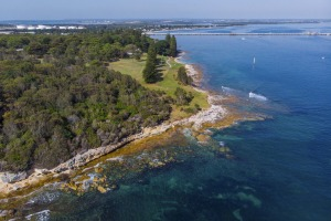 Aerial overlooking Kamay Botany Bay National Park, Kurnell in Sydney's south. Image supplied by Destination NSW Note ...