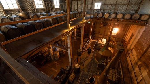 Corowa Distilling Co is located in a converted flour mill.