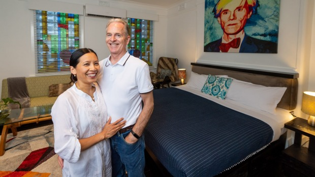 CIRCA 1928 hotel owners Ririn and Kevin Yaxley. The past year has been a rollercoaster due to border closures, Mr Yaxley ...