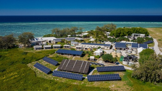 Lady Elliot has turned green, from island restoration, solar power, sophisticated recycling and composting to sugar cane ...