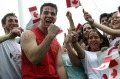 TORONTO - JULY 1:  People celebrate Canada's 138th birthday at Queen's Park on July 1, 2005 in Toronto, Canada. July ...