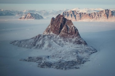 Uummannaq, frozen in the fjord on the isolated north west coast of Greenland.