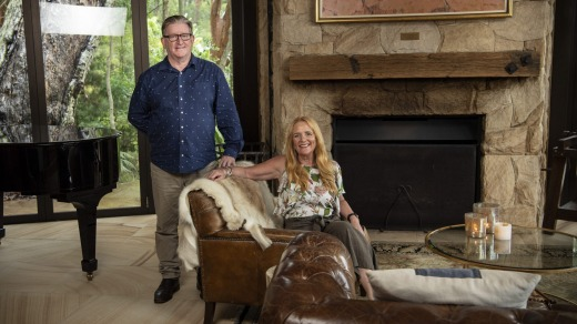 Karina and Brian Barry, owners of Pretty Beach House.