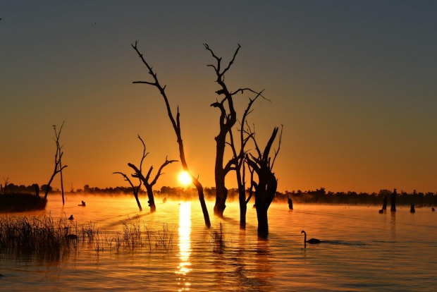 Sunrise over Lake Mulwala, NSW.