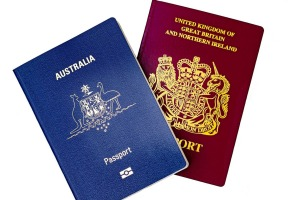 Many Australians have British passports.