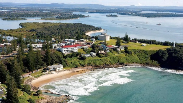 The Pacific Hotel stands majestically overlooking her namesake in Yamba at the mouth of the Clarence River.