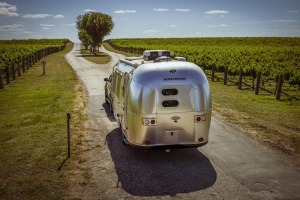 Mitchelton Airstream Hotel in Nagambie is an adults-only glamping set-up.