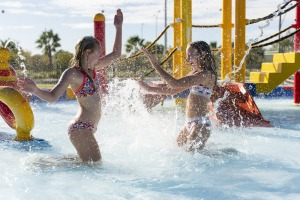 The waterpark at Moree Artesian Aquatic Centre.