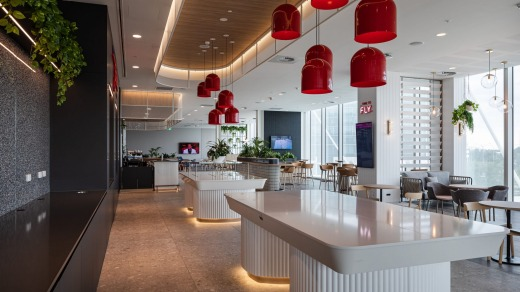 Virgin's new lounge at Adelaide Airport.