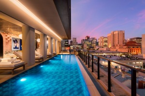 The pool at Hotel Indigo, Adelaide.