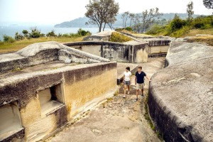 The historic fort at Middle Head.