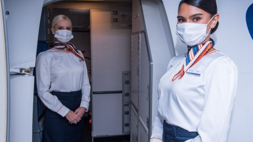 Masks are compulsory on board for passengers and crew.