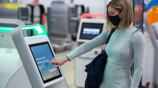 Rex has introduced self-check-in kiosks as part of its new route with larger planes.