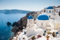 Santorini, Greece. The country hopes to have vaccination passports operating to allow tourists to return in May.