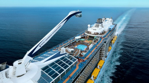 Quantum of the Seas is one of the world's largest cruise ships, with capacity for nearly 5000 passengers.
