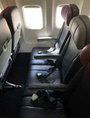 Rex's seats on the Boeing 737 are the same as the previous owner's, Virgin Australia.