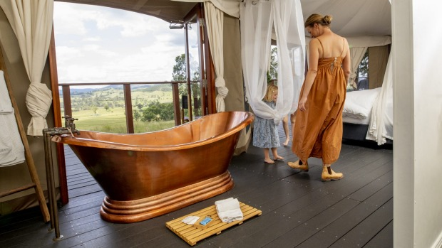 Jane Maroulis, of Boydell's in the Hunter Valley, spent 12 months planning and sourcing luxury fittings, including a ...