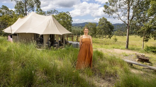 Boydell's in the Hunter Valley. At $950 for two nights, her glamping experience is booked out all weekends into July.