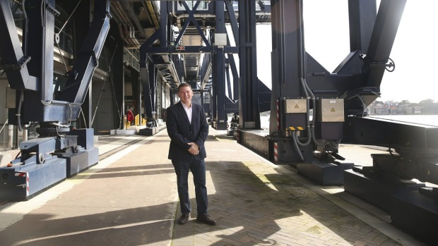 Gavin Smith, vice-president and managing director of Royal Caribbean Australia and New Zealand, at the empty Overseas ...