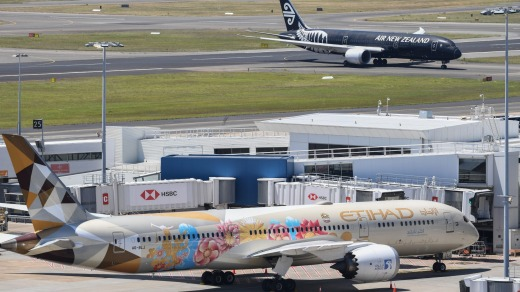International airlines continue to fly to Australia, but with severe caps on how many passengers they can bring in.