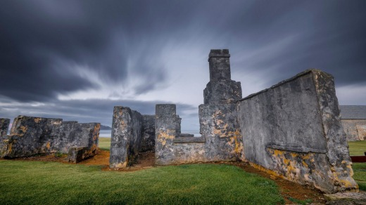 The haunting convict penal ruins at Kingston and Arthur's Vale, dating to 1788, are UNESCO World Heritage-listed.