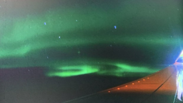The nothern lights: Why you should always get a window seat if you're flying over or near the Arctic.