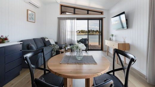 Each of the right-on-trend one and two-bedroom cabins are beautifully and stylishly-appointed.
