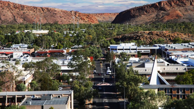 View of Alice springs and MacDonnell ranges looking up to the gap satmar27cover Photo credit: iStock Reusage permitted for print and online
