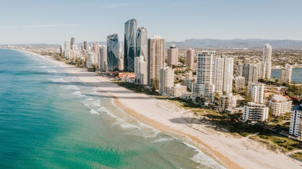 Aerial view of The Gold Coast strip, Queensland, Australia satmar27cover Photo credit: iStock Reusage permitted for print and online
