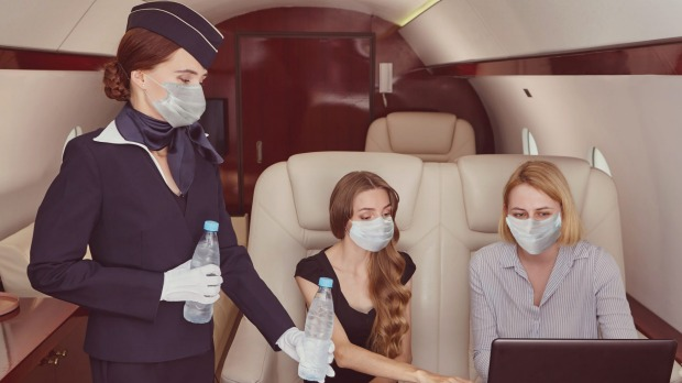 Masks are still compulsory on private jets.