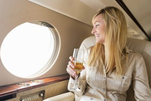 For those travelling for a special occasion, champagne is essential.