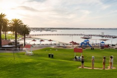 View from the top of Eastern Beach reserve, featuring Bollards Geelong tra2-geelong Geelong guide for Traveller, April ...