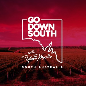 The campaign poster for Go Down South With Your Mouth, South Australia