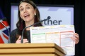 New Zealand Prime Minister Jacinda Ardern outlining the 'traffic light' system for the trans-Tasman bubble earlier this ...