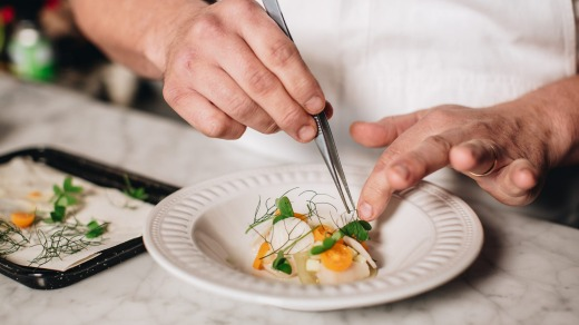 Underbar, where chef Derek Boath serves up a degustation from his open, white-tiled kitchen to a single, long table of ...